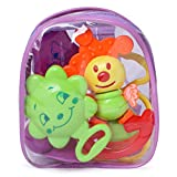 #7: FunBlast® Colourful Lovely Attractive Rattles for Babies, Toddlers, Infants & Children (Pack of 5)