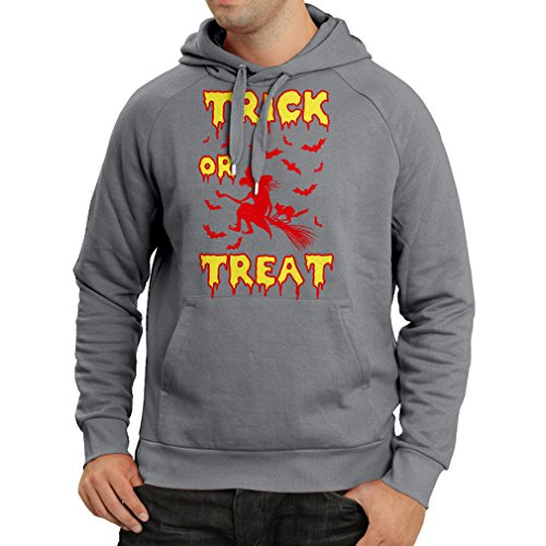 lepni.me Kapuzenpullover Trick or Treat - Halloween Witch - Party outfites - Scary Costume (Small Graphit Mehrfarben)