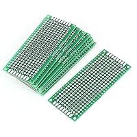 ARCELI 10PCS (3 x 7 cm) Placa PCB Universal de Doble Cara de prototipos Placa de Circuito Panel de circuitos para Soldadura de Bricolaje