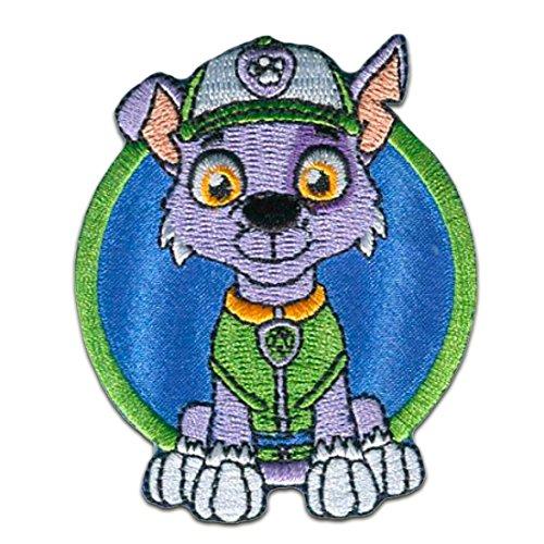 Aufnäher / Bügelbild - PAW PATROL 'ROCKY' - blau - 7,3x6cm - Patch Aufbügler Applikationen zum aufbügeln Applikation Patches Flicken by catch-the-patch® (Patch Paw)