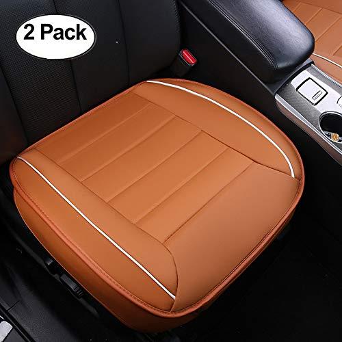 HCMAX Lusso Morbido Coprisedile per Auto Cuscino Tampone Stuoia Protettore per Forniture Automatiche per Sedan Hatchback SUV 2 Pacco Coprisedile Anteriore