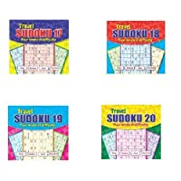 WF Graham Set of 4 Sudoku A5 Spiral Bound Travel Books 160 Puzzles & 4 Difficulty Levels Per Book (17-20)