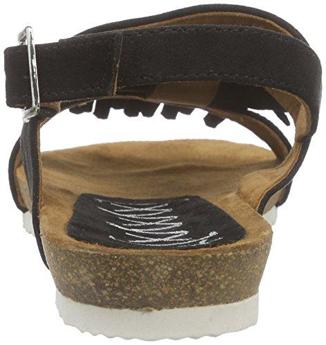 xyxyx Sandale, Scarpe Col Tacco con Cinturino a T Donna Nero (Nero (nero))