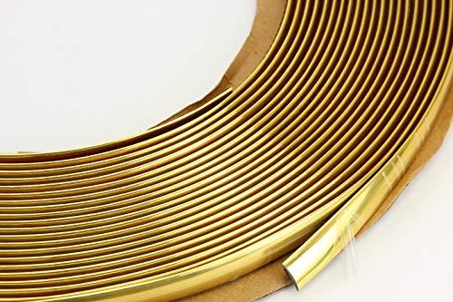 Unbranded 10 mm 3 m Gold GELB ZIERLEISTE Leiste Selbstklebend FLEXIBEL Auto Fur Motorrad Gelb Gold Trim