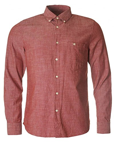 nudie-jeans-stanley-chambray-shirt-red-medium