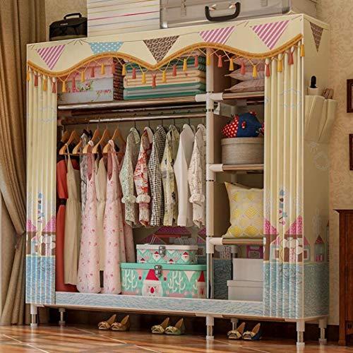 Yanfaming armadio dell'armadio armadio armadio armadio portatile, armadio in acciaio addensato e rinforzato armadio in tessuto semplice, armadio queen size, 67,7 x 49,6 x 18,1,a