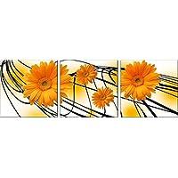 fiore moderna tossico Ambiente Trittico Ufficio Club a mano Pittura a olio dipinta Senza dipinti incorniciati Tela decorazioni su tela e pronta per essere appesa 70 * 70cm * 3
