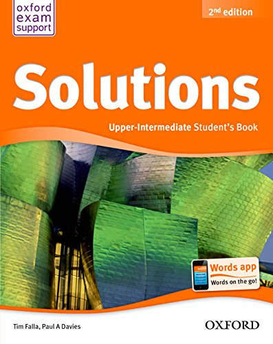 Solutions Upper Intermediate Student S Book Pack 2 Edici N Solutions Second Edition 9788467382037