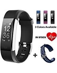 Lintelek Fitness Tracker Waterproof IP67 Smart Watch Pedometer Activity Tracker for Heart Rate Monitor with GPS Track,Step Tracker for Kids, Women, and Men
