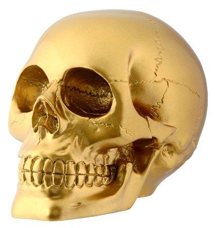 stealstreet Gold Skull Totenkopf Skelett Kopf Sammlerstück Dekoration Figur (Skelett Valentines)