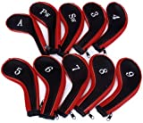 SODIAL (R)10 Golf Clubs Iron Set Headcovers Head Cover Red/Black