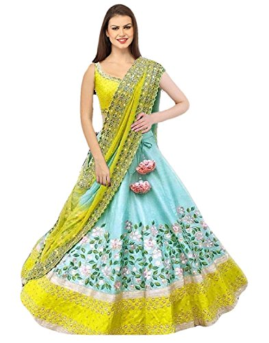 Next Enterprise women\'sSequence and Embroidary Semi Stitched lehengas, lehenga choli (SBE-06,FreeSize)