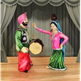 [Sponsored]TiedRibbons Punjabi Couple Bhangra Dancing Showpiece Figurine Decoration Handicraft Showpiece Statue Figurines Collectibles Items For Drawing Room Living Room Office Bed Room Garden Home Decor And House Warming Gifts