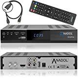 Anadol HD 222 Plus HD HDTV digitaler Satelliten-Receiver (HDTV, DVB-S2, HDMI, 2X USB 2.0, Full HD 1080p, YouTube)  inkl. HDMI Kabel ? schwarz medium image