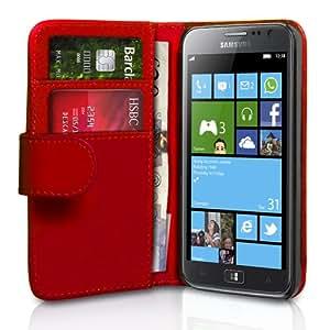 Samsung Ativ S Tasche Samsung Ativ S Schwarz PU Leder Brieftasche Hülle rot