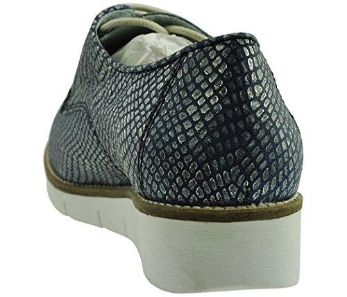 JJ Footwear Femme Chaussures Cuir Largeur betem Normal 21,9cm-25,5cm Bleu - Ozean Odesa