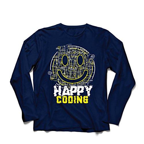Camiseta Manga Larga Hombre codificación Feliz -