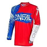 O'Neal Element Burnout MX Motocross Jersey Trikot Shirt Enduro Offroad Motorrad Cross Erwachsene, 0008, Farbe Rot Blau, Größe M