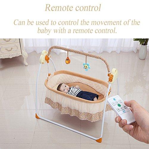Kuschelige Deluxe Babyschaukel , MP3-Player elektronischem Mobile mit (brown) CE RoHs CCC