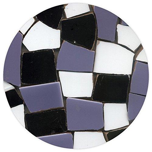 ALEA Mosaic Eclats de mosaïque émaillée, 20-50mm, 2Kg Mix Noir et Blanc, BMXN