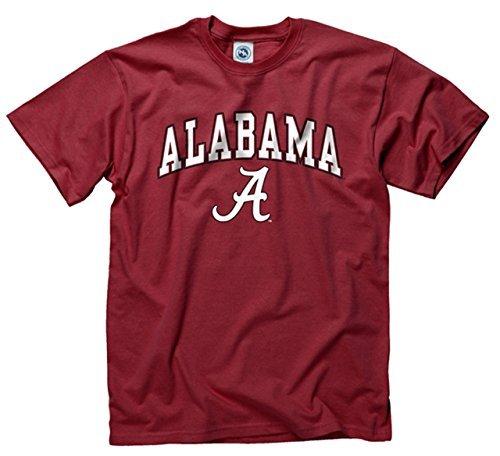 Campus Farben Alabama Crimson Tide Erwachsene Arch & Logo Soft Style Gameday T-Shirt-Crimson, Herren, Purpurrot, Large