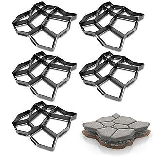fsders Tiritas de pavimentación de hormigón molde de yeso plantilla de jardín Pack de 5