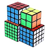 Dilwe Speed Cube Set, 2x2 3x3 4x4 5x5 Quicky Twist Cubos Puzzle Speed...