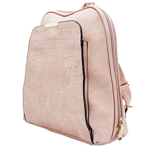 MISEMIYA - Zaino da donna Borse a zainetto Donna Borse a mano e a spalla borse zainetto zaino SR-619(34 * 31 * 11cm) - Rosa