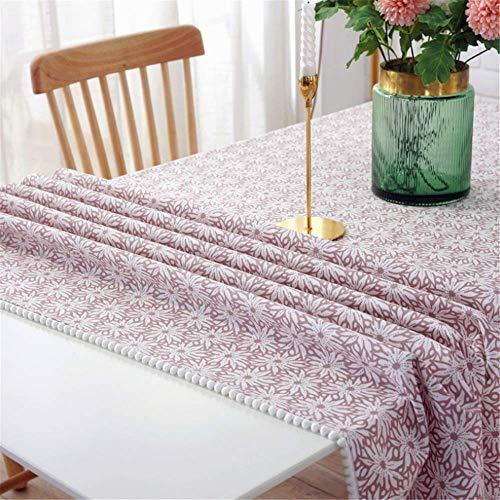 SONGHJ Restaurant Tischdecke Home Coffee Table Cover Handtuch Quadratische Tischdecke Dining Christmas Tischdecke 04 140x250cm - Quadratische Tischdecke Leinen Weiße
