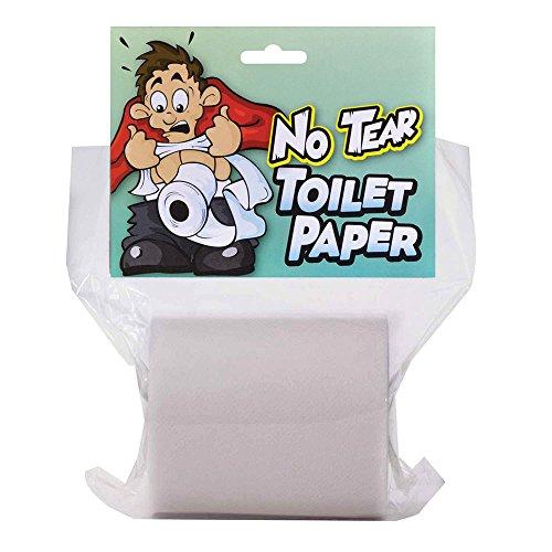 Bristol Novelty GJ414 Nicht-zerreißbares Toilettenpapier Accessoire, Weiß, Unisex- Erwachsene, Einheitsgröße