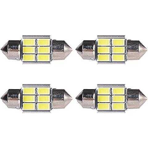 lesilverskys (TM) 4x 360LM Bianco Auto Festone LED interni tetto