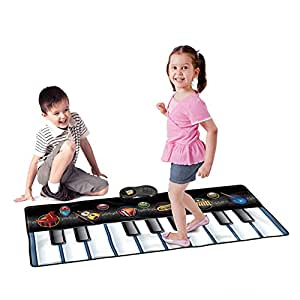 Keyboard Dance Mats Musical Instrument - Wishtime SL15001 Kids Giant Electronic Piano Music Party Games Playmat Educational Toy Instrument For Toddlers