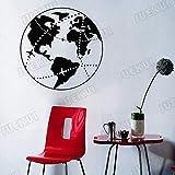 guijiumai Terre Et Avion Route Art Décor Amovible Stickers Muraux pour Salon Décoration Home Vinyle Stickers Muraux Chambre Murale99.75X99.75CM
