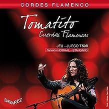 Savarez 656357 - Cuerdas para Guitarra Clásica Flamenco juego T50R Tensión estandard, rojo