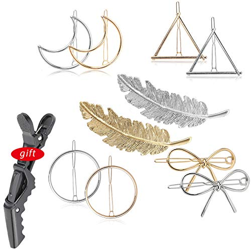 Metal Hairpins Geometry Hair Cli...