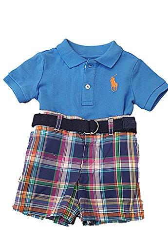 Ralph Lauren Baby Jungen (0-24 Monate) Poloshirt Blau blau, Blau 24 Monate