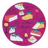Bandeja para queso 3 cubiertos  los amigos-violet. Derrière la Porte