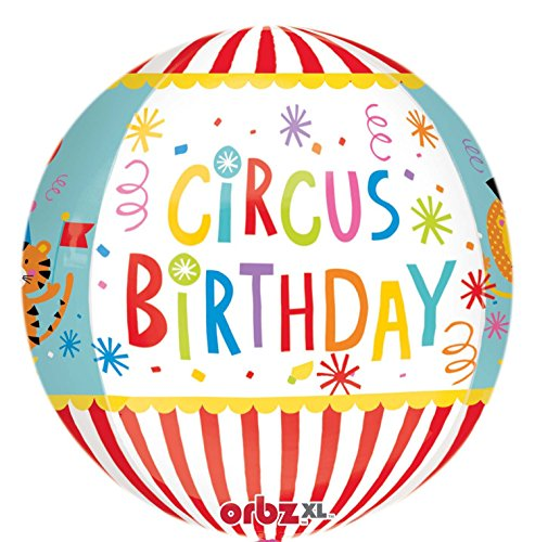 Amscan 3290601 Folienballon Orbz Zirkus Geburtstag