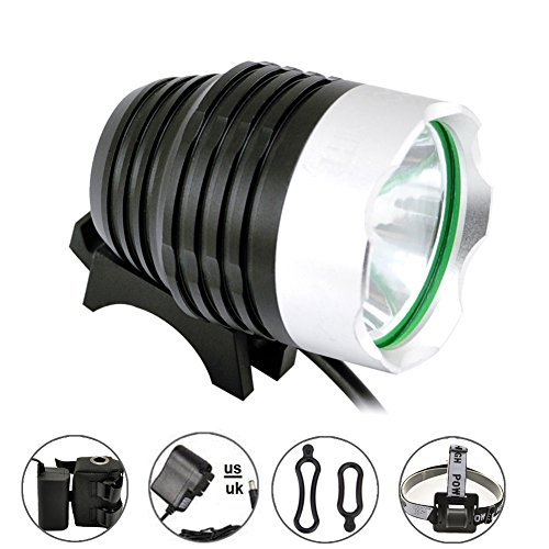 Comunite 1200 Lumen Super Luminosa CREE XML T6 LED Ricaricabile Impermeabile Mountain Bike Bicicletta Faro Torcia con 5200 mAh Batteria Confezione, Ideale per Campeggio, Trekking, Mountain Bike
