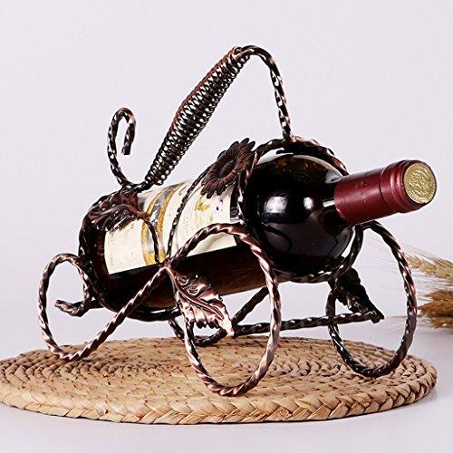 ekoration Europäischen Display Weinschrank Dekoration Weinregal Wohnzimmer Schmiedeeisen Flaschenregal ( Color : Brown ) (Brown-papier-platten)