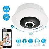 OWSOO 960P IP Cámara Wifi Panorámica 360 Grados Full View 1.44mm VR Lens Ojos de Pez 2-Vías Audio Visión Nocturna Soporta Tarjeta TF Hasta 128GB Control Android/iOS Móvil