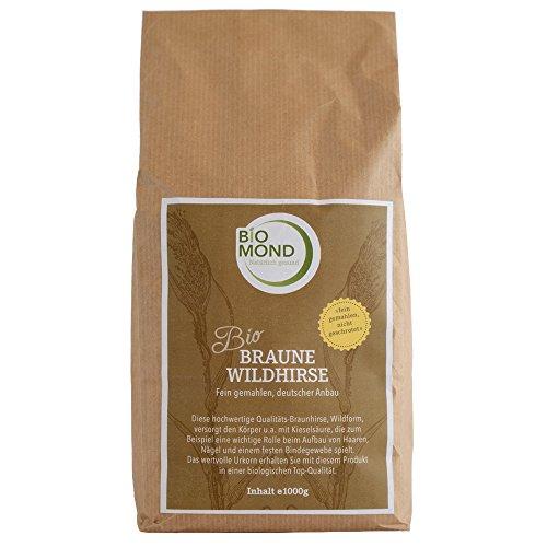 BIO Braunhirse von BIOMOND / 1000 g / Hirse gemahlen / Braune Wildhirse - eine der mineralstoffreichsten Getreidesorten