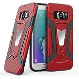 """MOONCASE Galaxy S7 Edge Coque, Housse Étui en Hybride Dual Layer Iron Man Armure Défenseur avec Difficile PC Béquille & Support de Voiture Fonction pour Samsung Galaxy S7 Edge 5.5"""" Rouge"""