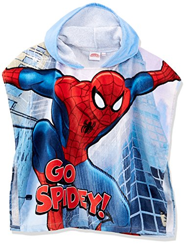 Marvels Spiderman Kinder Handtuch Poncho mit Kapuze One Size