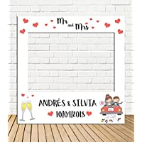 Tu Fiesta Mola Mazo Photocall de Boda Dibujo 100x100cm| Divertido y económico|Detalle de