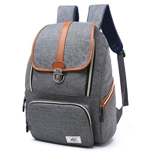 F@2016 neue Handtasche Schultertasche Urlaubsreisen Rucksack '' Computer Rucksackschultaschenmann- gray