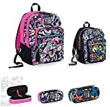 Seven Yub Zaino Big Plus Graffiti + Astuccio Ovale Organizzato - School pack Boy o Girl
