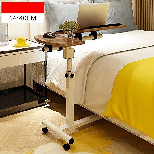 NYDZ Notebook Computer Schreibtisch Bett Studie Tabelle Haushalts Lifting Faltbare Mobile Nachttisch Einfache Rädertisch (Farbe : 6)