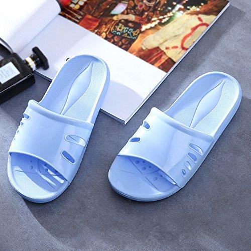 Aemember bagno pantofole, estate donna, interni in plastica antiscivolo, fondo morbido, Home, fondo spesso, bagno, Cool pantofole, signora estate Sky blue