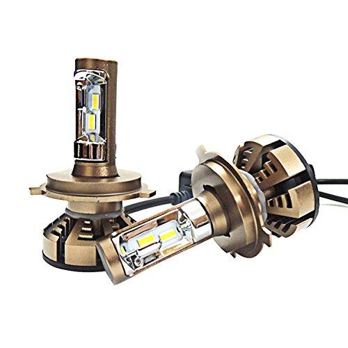 JAYLONG H4 LED Scheinwerfer Birnen 1 Paar, 5500K Hallo-Lo Dual Beam Auto Scheinwerfer, 4200LM Helle CSP Chips Umbausatz Fit Für Alle Auto/Motorrad Modelle - 1 Jahr - Camry 2003 Toyota Scheinwerfer
